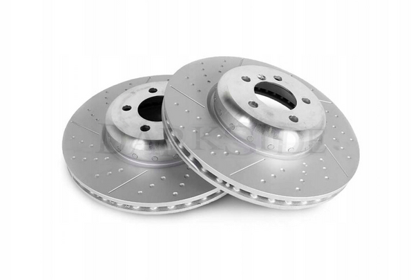 BMW M Sport F Series 370mm x 30mm Drilled and Grooved Front Brake Discs