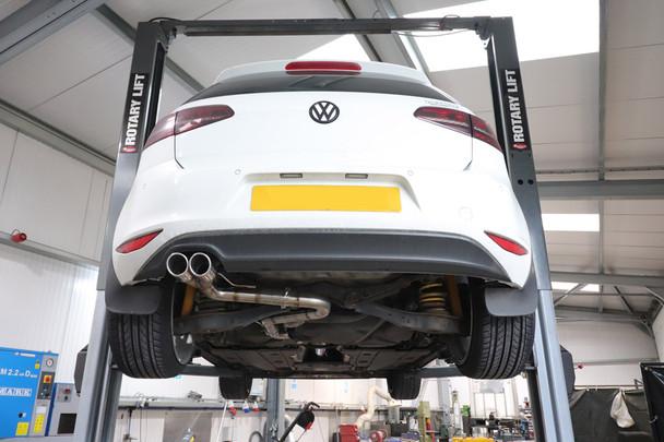 Darkside VW MK7 Golf 2.0 TDI Cat-Back Exhaust System 2WD Only