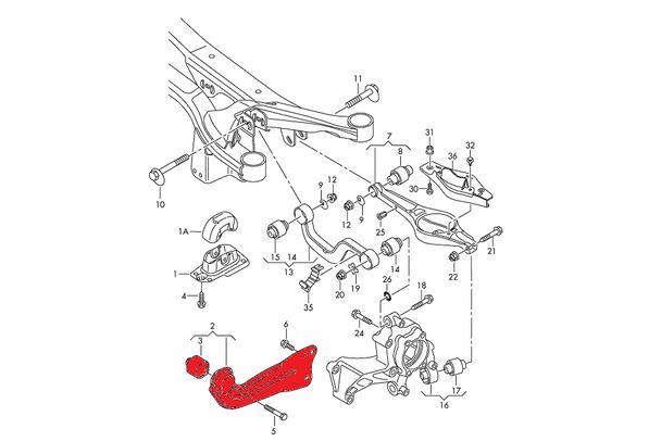 Verkline Spherical Rear Trailing Arm Kit - MK5 / MK6 Platform