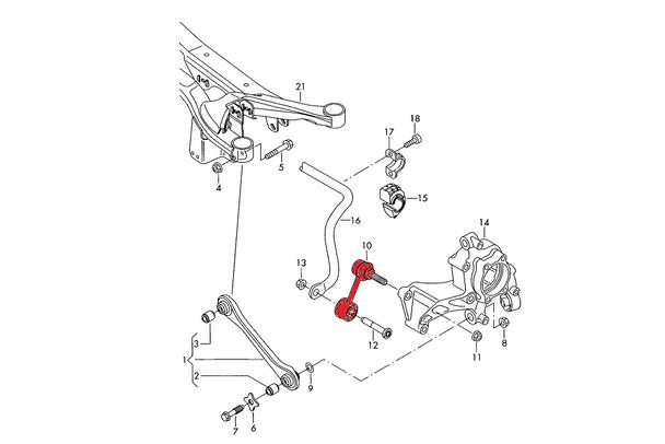 Verkline Adjustable Rear Anti Roll Bar Links - MK5 / MK6 Platform