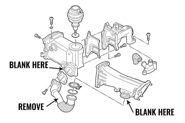 Audi Later 3.0 TDI V6 EGR Blanking Kit - Replaces 059131530K