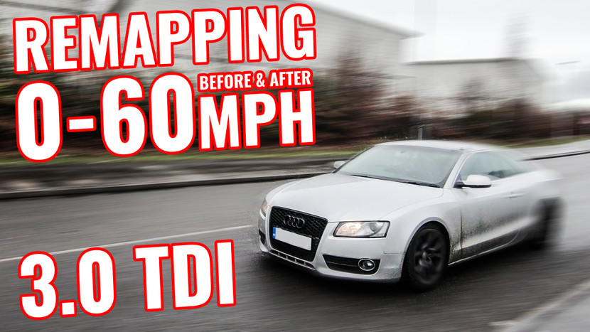REMAPPING BEFORE & AFTER 0-60MPH! - AUDI A5 3.0 TDI QUATTRO PROJECT