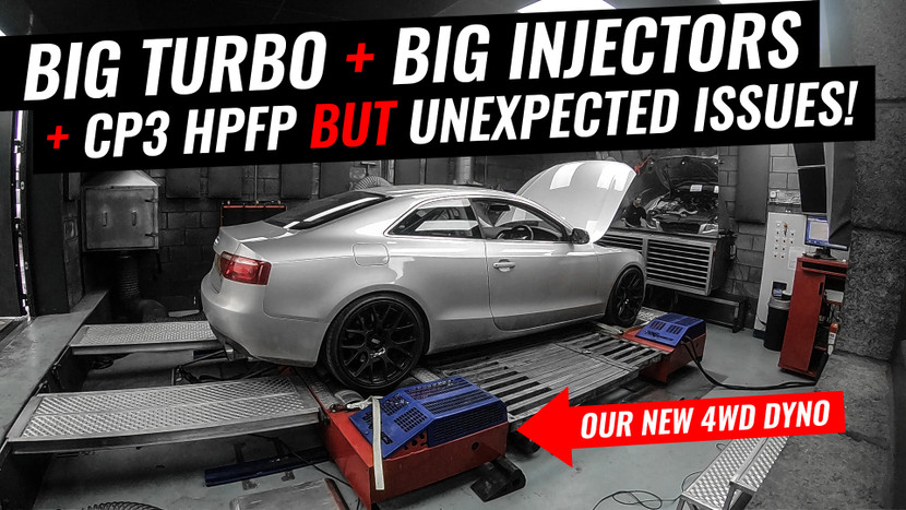 OUR NEW 4WD DYNO + CP3 HPFP + BIG INJECTORS + AN UNEXPECTED PROBLEM - AUDI A5 3.0 TDI QUATTRO PROJECT