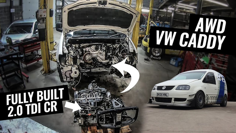 SRS Automotive 2.0 TDI CR DSG 4Motion Caddy Race Van - Engine and Gearbox Build