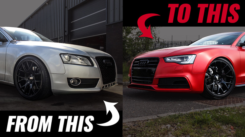 FACELIFT AND FULL VINYL WRAP!!! - AUDI A5 3.0 TDI QUATTRO PROJECT