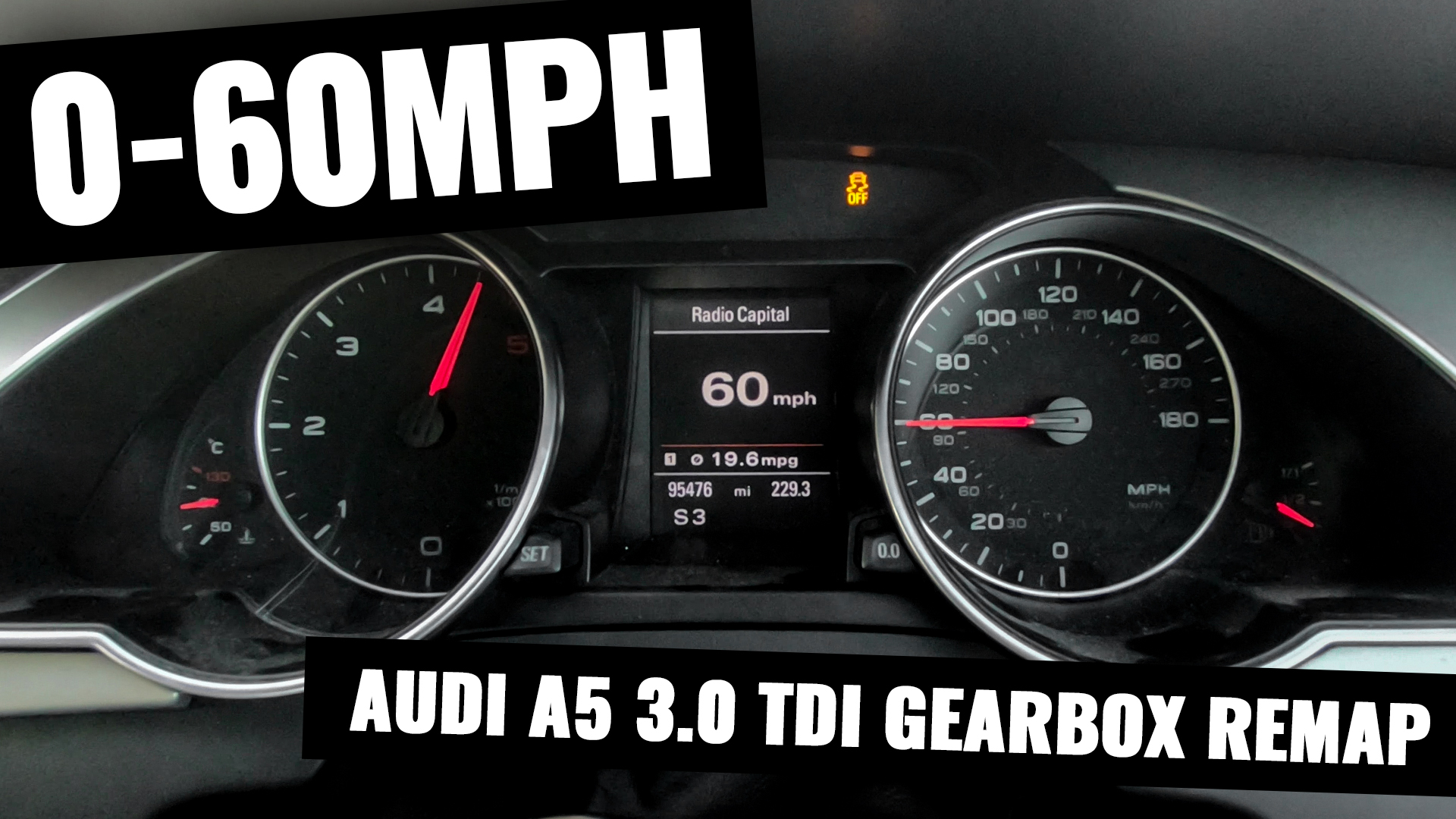 0-60MPH AFTER GEARBOX REMAP - AUDI A5 3 0 TDI QUATTRO