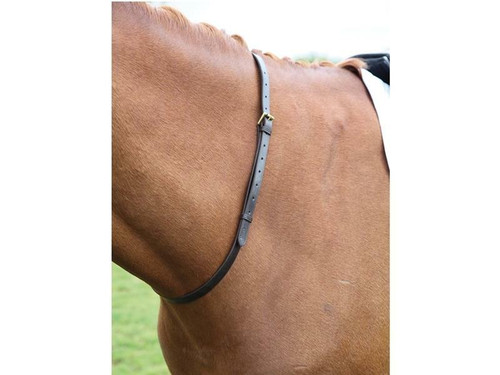 Shires Shires Leather Neck Straps for Horse Riding