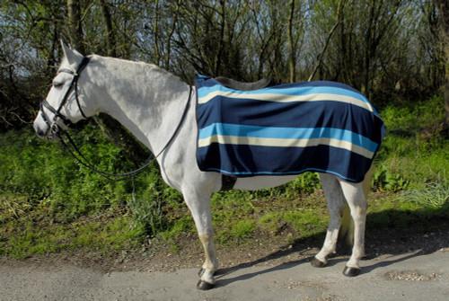Rhinegold Rhinegold Fleece Exercise Sheet - Turquoise Stripe