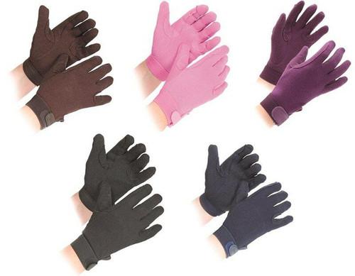 Shires Cotton Pimple Riding Gloves - Kids
