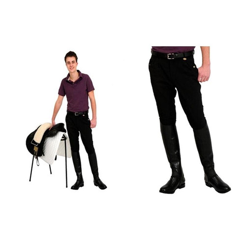 Rugged Breeches Rugged Horse Mens Full Seat Breeches - Black or Navy