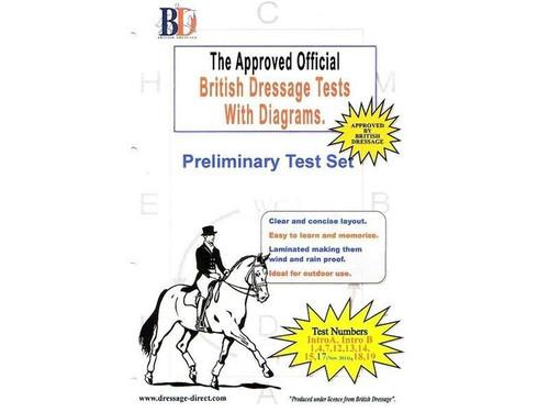 British Dressage Laminated British Dressage Test Sets - Preliminary