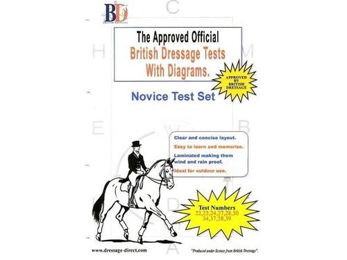 British Dressage Laminated British Dressage Test Sets- Novice