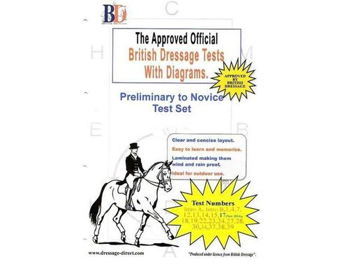 British Dressage Laminated British Dressage Test Sets - Prelim and Novice