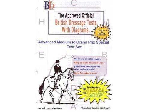 British Dressage Laminated British Dressage Test Sets- Advanced Medium to GPS