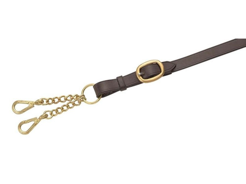 Shires Shires Leather Lead Reins with Small Newmarket Chain