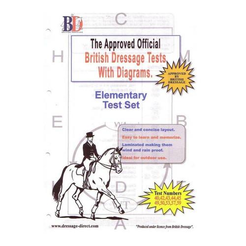British Dressage Laminated British Dressage Test Sets- Elementary