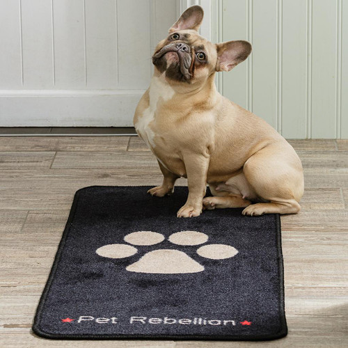 Pet Rebellion Pet Rebellion Stop Muddy Paws Rugs - Paw Design