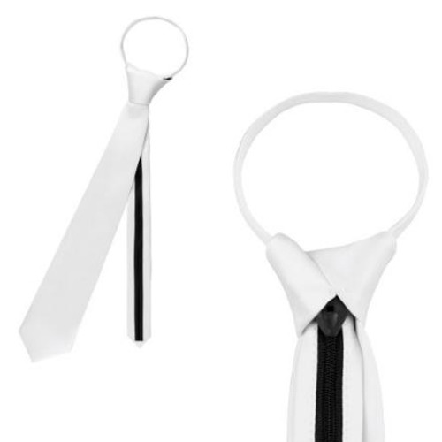 Equetech Equetech White Zip Show Tie - Adult