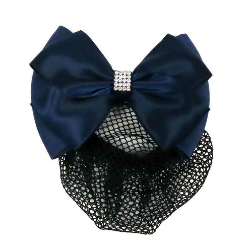 Equetech Equetech Velvet Bow and Net - Black or Navy