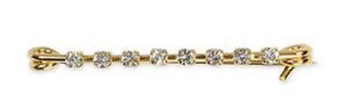 Shires Shires Gold Diamante Bar Stock Pin