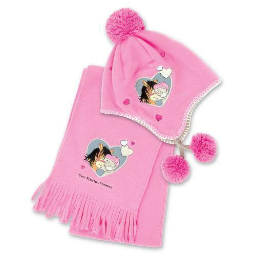 Carrots Equestrian Tatty Teddy Me to You Fleece Hat and Scarf Set - Pink