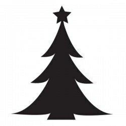 Glamourati Glamourati Glitter Quarter Mark Stencil - Christmas Tree