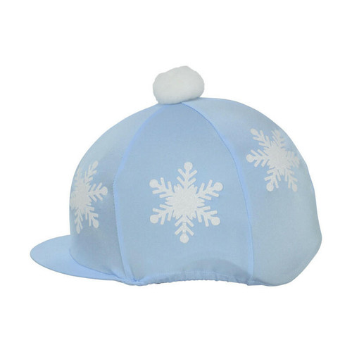 Hy Hy Snowflake Hat Cover - Pale Blue and Pink