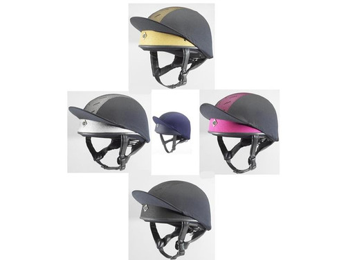 Charles Owen Pro 2 Plus Skull Caps in gold, pink, silver, black and navy - Junior Sizes