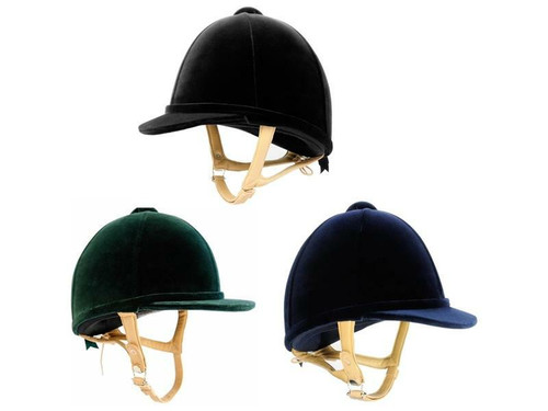 Charles Owen Charles Owen H2000 Velvet Riding Hats - Adult Black