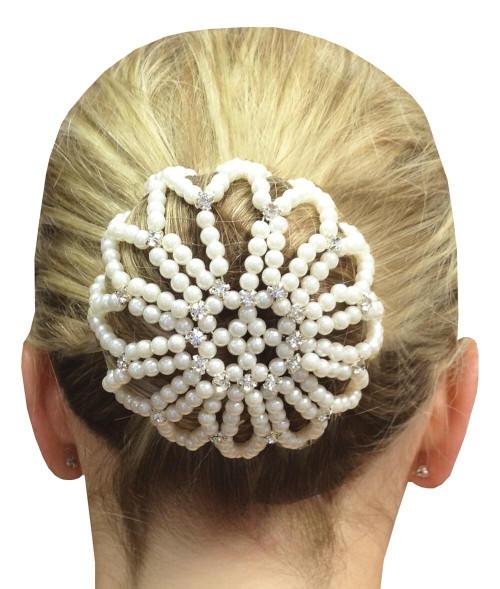 Equetech Equetech Diamante Beaded Bun Cover - Ivory