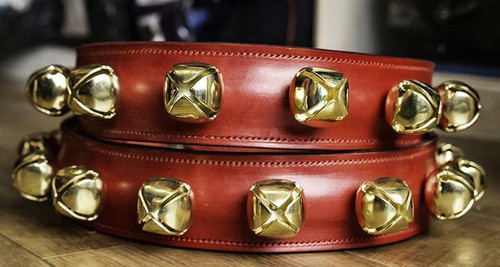 Frome Saddlery English Leather Reindeer Collars with Bells