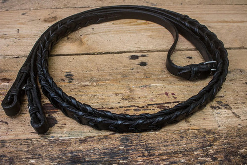 Frome Saddlery Hand Made English Leather Laced Reins