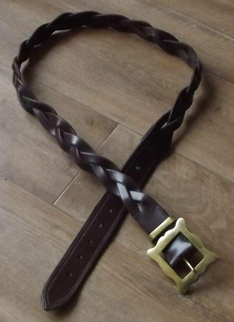 Frome Saddlery Hand Made English Leather Plaited Leather Belt