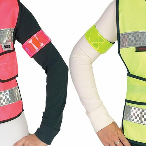 Hy HyVIZ Rider Elasticated Arm or Leg Band - Yellow and Pink