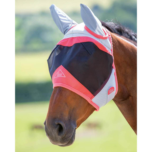 Shires Shires Air Motion Fly Masks with Ears - Coral