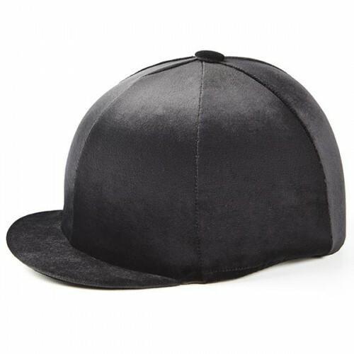 Capz Hat Covers Capz Black Velour Riding Hat Cover - One Size