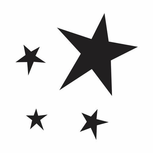 Glamourati Glamourati Small Stencil Pointy Stars Design - Pack of 4