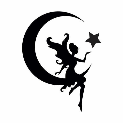 Glamourati Glamourati Medium Fairy and Moon Stencil Design - Pack of 2