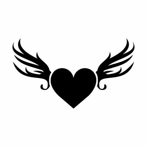 Glamourati Glamourati Medium Heart and Wings Stencil Design - Pack of 2