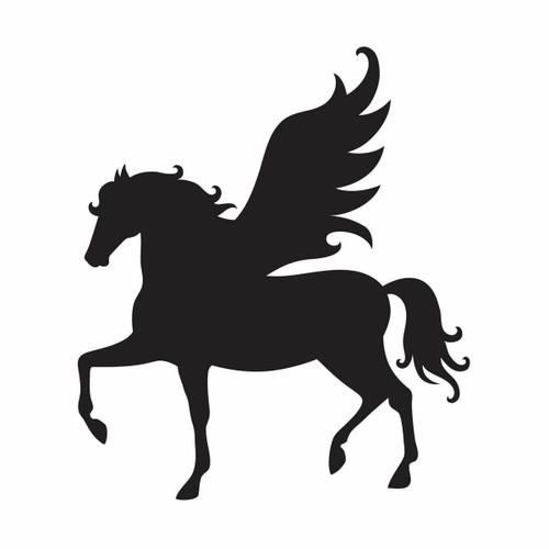 Glamourati Glamourati Medium Pegasus Stencil Design - Pack of 2