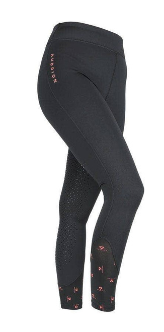 Shires Shires Aubrion Porter Winter Riding Tights - Black