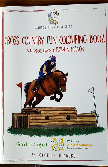 Rainbow Pony Publishing The Cross Country Fun Colouring Book