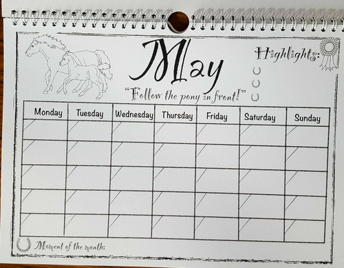 Rainbow Pony Publishing The Colour-Your-Own Pony Planner