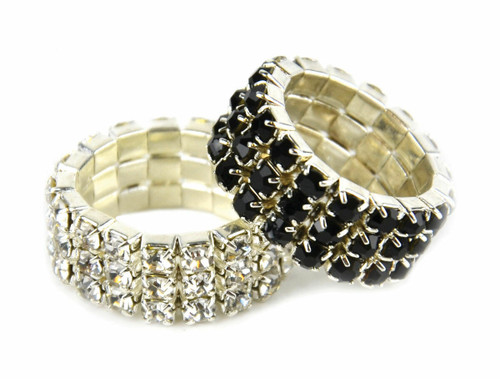 Lincoln Lincoln Diamante Plaiting Bands - Pack of 20
