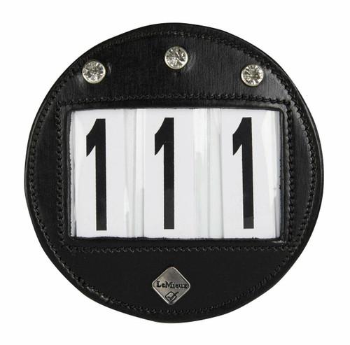 Le Mieux Le Mieux Diamante Bridle Number Holder - Black