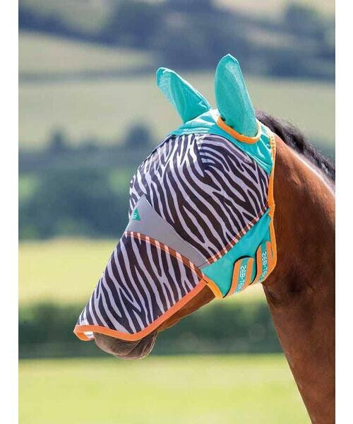 Shires Shires Zeb-Tek Zebra Fly Mask with Nose and Ears