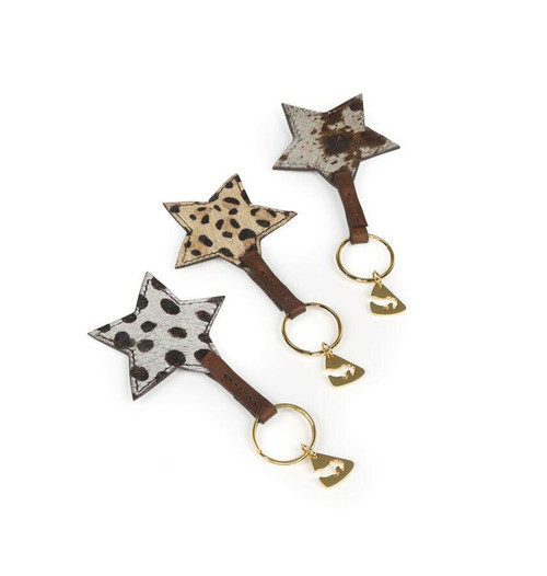 Shires Shires Aubrion Cowhide Keyring - All Prints