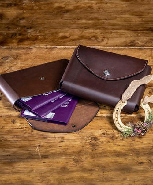 Le Mieux Le Mieux Leather Passport Holder - Brown