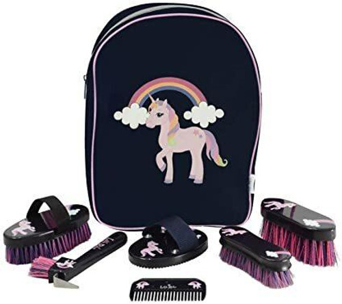 Hy Hy Little Rider Unicorn Complete Grooming Kit Rucksack
