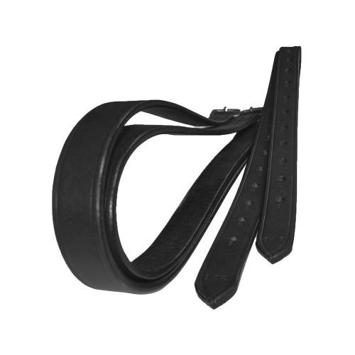JHL JHL Adults Stirrup Leathers - Black and Brown